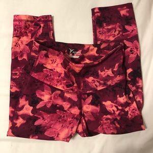 Old Navy Active Pink and Orange Floral Leggings